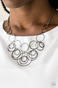 Paparazzi Break The Cycle - Black Necklace - Be Adored Jewelry