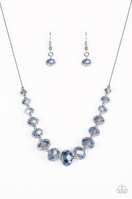 Paparazzi Crystal Carriages - Blue Necklace - Be Adored Jewelry