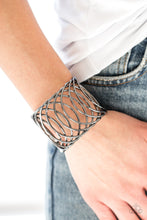 Load image into Gallery viewer, Paparazzi Dizzingly Diva - Black Cuff Bracelet - Be Adored Jewelry