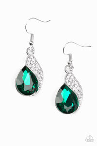 Paparazzi Easy Elegance - Green Earring - Be Adored Jewelry