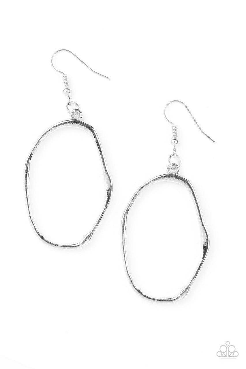 Paparazzi Eco Chic -  Silver Earring - Be Adored Jewelry