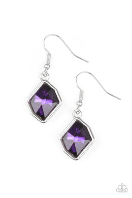 Glow It Up - Paparazzi Purple Earring - Be Adored Jewelry