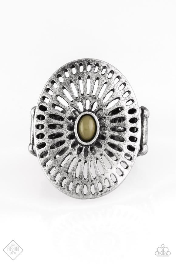 Grate Expectations - Paparazzi Green Ring - Be Adored Jewelry