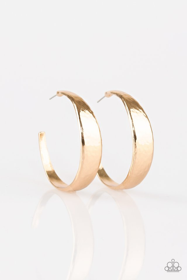 Paparazzi Accessories HOOP and Holler - Gold Hoop Earring - Be Adored Jewelry