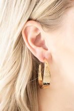 Load image into Gallery viewer, Paparazzi Accessories HOOP and Holler - Gold Hoop Earring - Be Adored Jewelry