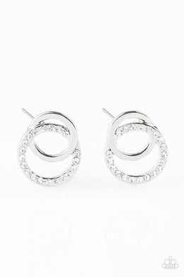 Paparazzi Accessories In Great Measure - White Earring - Be Adored Jewelry