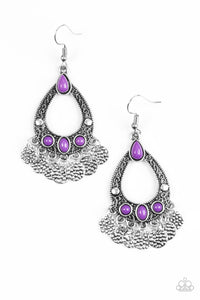 Paparazzi Accessories Island Escapade - Purple Earring - Be Adored Jewelry