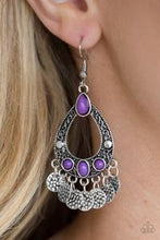 Load image into Gallery viewer, Paparazzi Accessories Island Escapade - Purple Earring - Be Adored Jewelry