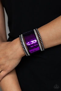 Paparazzi Accessories MERMAIDS Have More Fun - Purple Bracelet - Be Adored Jewelry