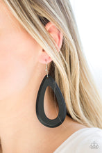 Load image into Gallery viewer, Paparazzi Accessories Malibu Mimosas - Black Earring - Be Adored Jewelry