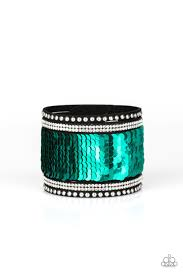 Be Adored Jewelry MERMAIDS Have More Fun Green Paparazzi Urban Bracelet