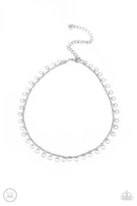 Be Adored Jewelry Minimalist Magic - Silver Paparazzi Choker Necklace