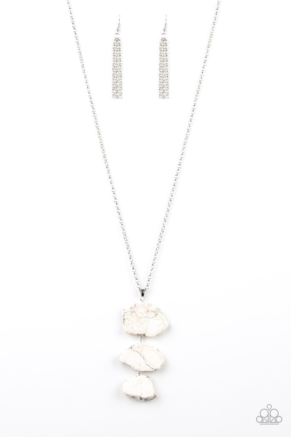 Be Adored Jewelry On The ROAM Again White Paparazzi Necklace