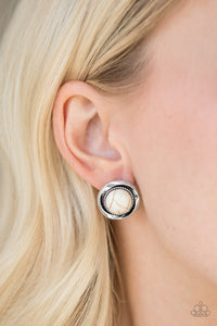 Paparazzi Accessories Out of This Galaxy - White Earring - Be Adored Jewelry