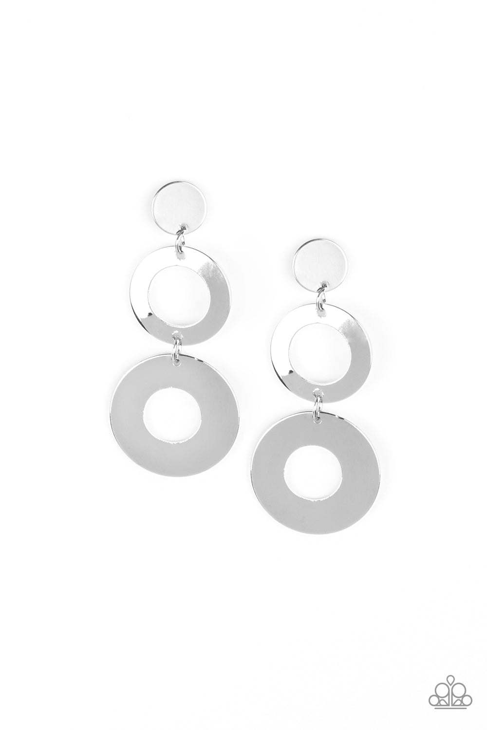 Paparazzi Accessories Pop Idol - Silver Earring - Be Adored Jewelry