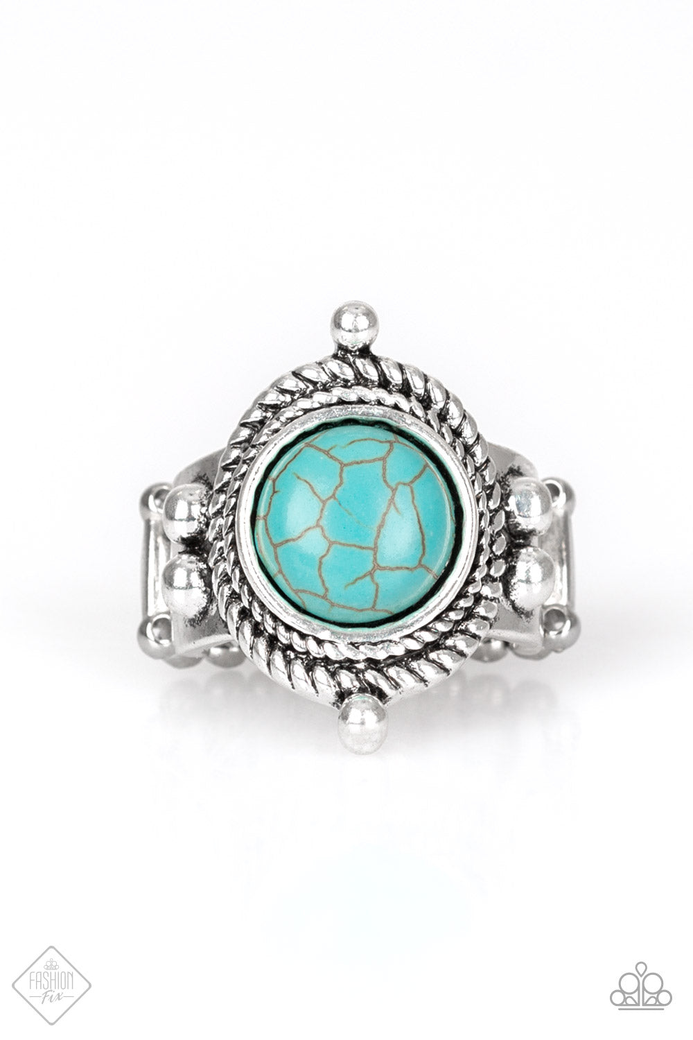 Paparazzi Accessories Prone to Wander - Blue Ring Simply Santa Fe  Fashion Fix - Be Adored Jewelry