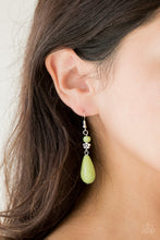 Load image into Gallery viewer, Paparazzi Accessories Sandstone Sunflowers - Green Earrings - Be Adored Jewelry