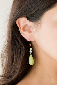 Paparazzi Accessories Sandstone Sunflowers - Green Earrings - Be Adored Jewelry