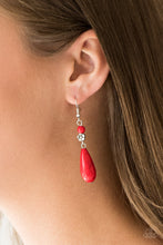 Load image into Gallery viewer, Paparazzi Accessories Sandstone Sunflowers - Red Earring - Be Adored Jewelry