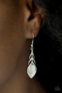Paparazzi Accessories Soaring Shimmer - White Earring - Be Adored Jewelry