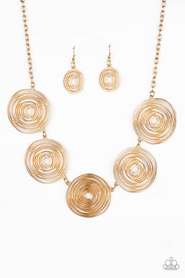 Paparazzi SOL-Mates - Gold Necklace - Be Adored Jewelry