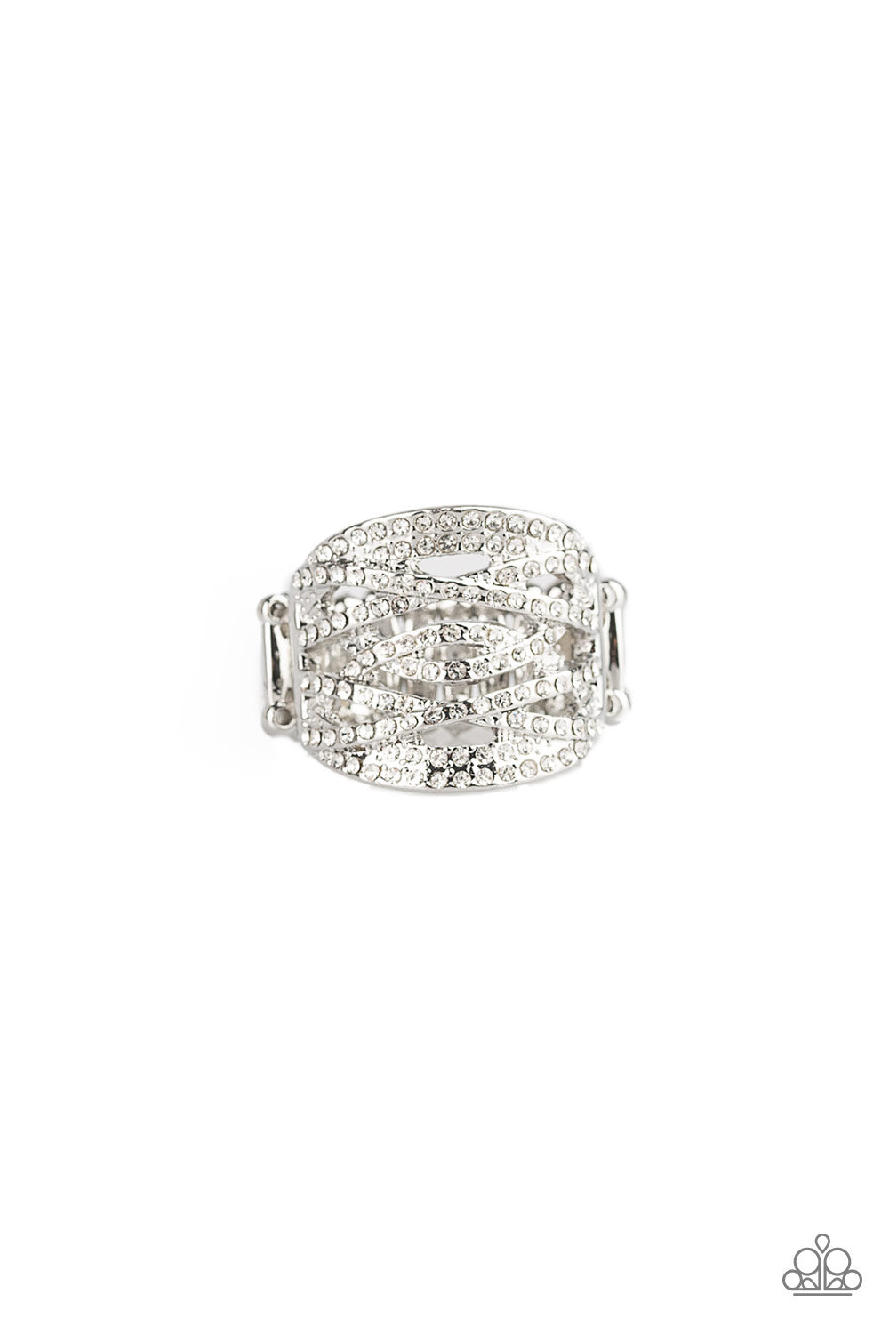Paparazzi Accessories The Money Maker - White Ring - Be Adored Jewelry