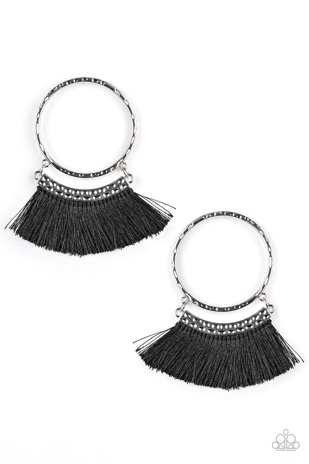 Paparazzi Accessories This is Sparta - Black Earring - Be Adored Jewelry
