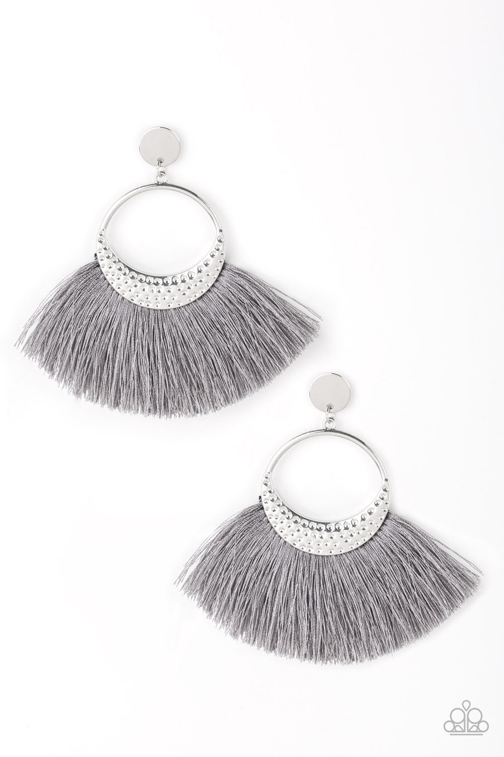 Paparazzi Accessories Spartan Spirit - Silver Earring - Be Adored Jewelry