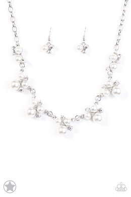 Paparazzi Accessories Toast to Perfection White Blockbuster Necklace - Be Adored Jewelry