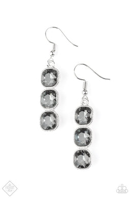 Paparazzi Accessories Toast to Timeless - Silver Earring Fiercely 5th Avenue Fashion Fix - Be Adored Jewelry