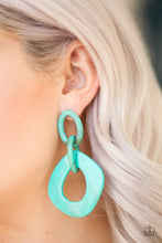 Load image into Gallery viewer, Paparazzi Accessories Torrid Tropicana - Blue Earring - Be Adored Jewelry