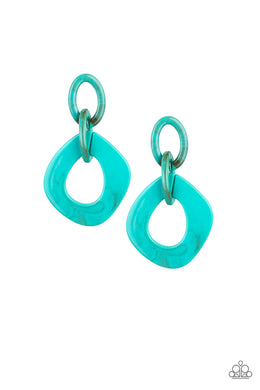 Paparazzi Accessories Torrid Tropicana - Blue Earring - Be Adored Jewelry