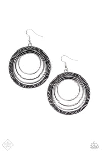 Paparazzi Accessories Totally Textured - Silver Earring Simply Santa Fe Fashion Fix - Be Adored Jewelry