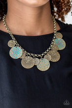 Load image into Gallery viewer, Paparazzi Accessories Treasure HUNTRESS - Brass Necklace - Be Adored Jewelry