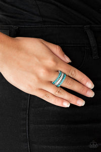 Paparazzi Accessories Treasury Fund - Blue Ring - Be Adored Jewelry