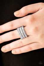 Load image into Gallery viewer, Paparazzi Accessories Treasury Fund White Ring - Be Adored Jewelry