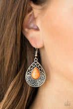 Load image into Gallery viewer, Paparazzi Accessories Tucson Tunes - Orange Earring - Be Adored Jewelry