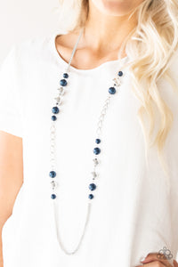 Paparazzi Accessories Uptown Talker - Blue Necklace - Be Adored Jewelry