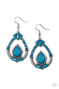 Paparazzi Accessories Vogue Voyager - Blue Earring - Be Adored Jewelry