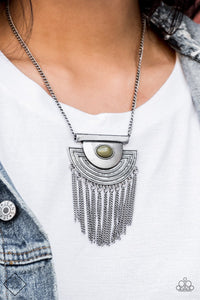Paparazzi Accessories When In Roam - Green Necklace Sunset Sightings Fashion Fix - Be Adored Jewelry