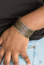 Load image into Gallery viewer, Paparazzi Accessories Wire Warrior-  Brass Cuff Bracelet - Be Adored Jewelry