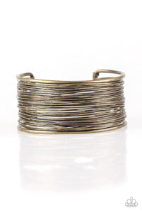 Paparazzi Accessories Wire Warrior-  Brass Cuff Bracelet - Be Adored Jewelry