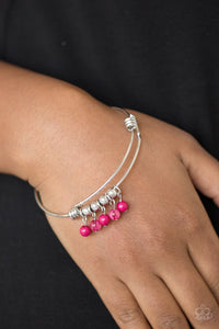 Paparazzi All Roads Lead To ROAM - Pink Bracelet - Be Adored Jewelry
