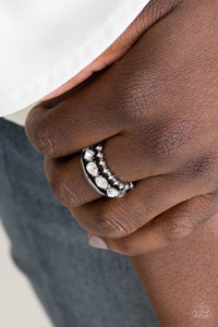 Backstage Sparkle - Paparazzi Black Ring - Be Adored Jewelry