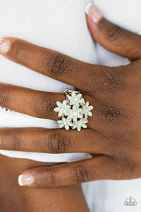 Paparazzi Blooming Bouquets - Green Ring - Be Adored Jewelry