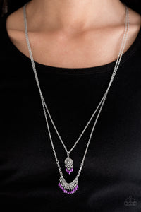 Bohemian Belle - Paparazzi Purple Necklace - Be Adored Jewelry