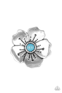 Paparazzi Boho Blossom - Blue Ring - Be Adored Jewelry