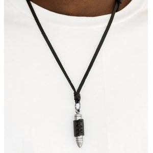 Paparazzi Bold Bulletproof - Black Necklace - Be Adored Jewelry