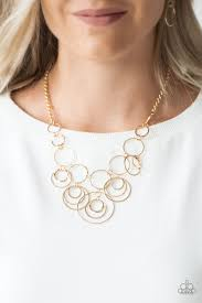 Break The Cycle - Paparazzi Gold Necklace - Be Adored Jewelry