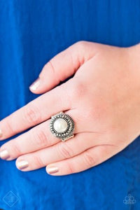 Paparazzi Bronx Beauty - White Ring - Be Adored Jewelry